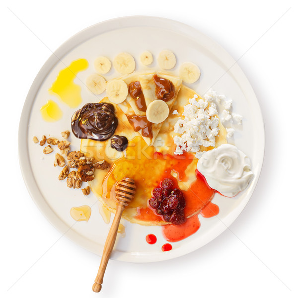 Crepes with toppings Stock photo © maxsol7