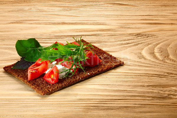Stock fotó: Kenyér · paradicsom · sajt · szendvics · aprított · krém