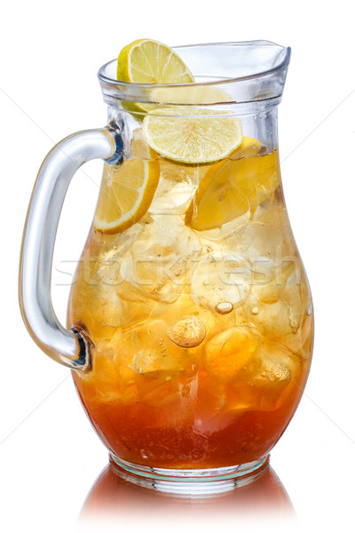 Iced tea in the pitcher Stock photo © maxsol7