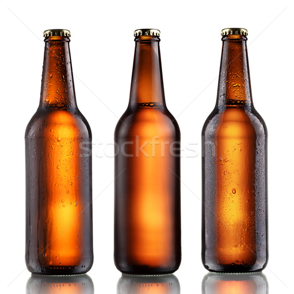 Full beer bottles set Stock photo © maxsol7