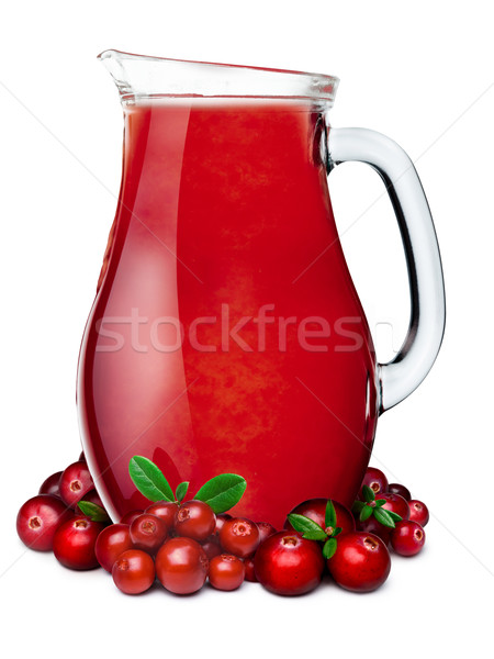 Pitcher of cranberry lingonberry smoothie Stock photo © maxsol7