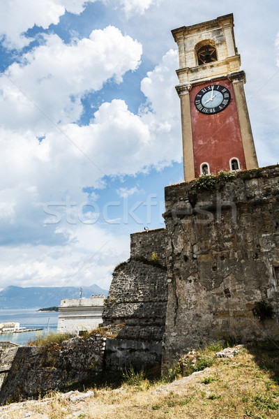 Old tower with clock Stock photo © maxsol7