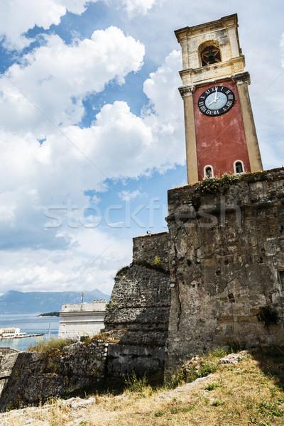 öreg torony óra erőd görög sziget Stock fotó © maxsol7