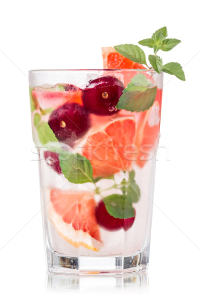 Grapefruit cherry mojito Stock photo © maxsol7
