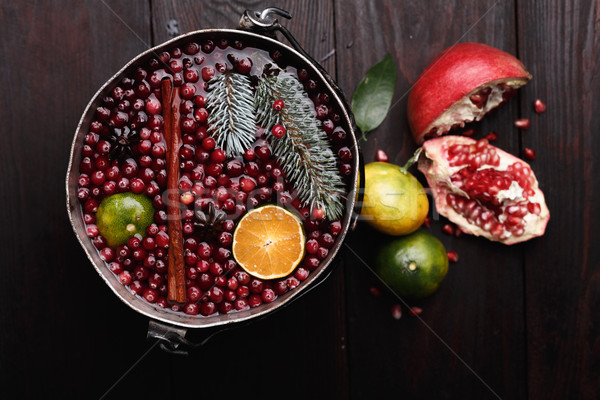 Cranberry mandarin mulled wine Stock photo © maxsol7