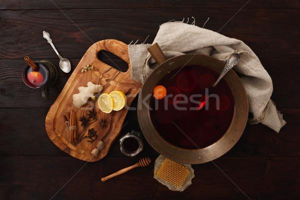 Honey ginger punch Stock photo © maxsol7