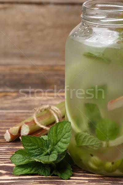 Ruibarbo limonada de água alimentação saudável Foto stock © maxsol7