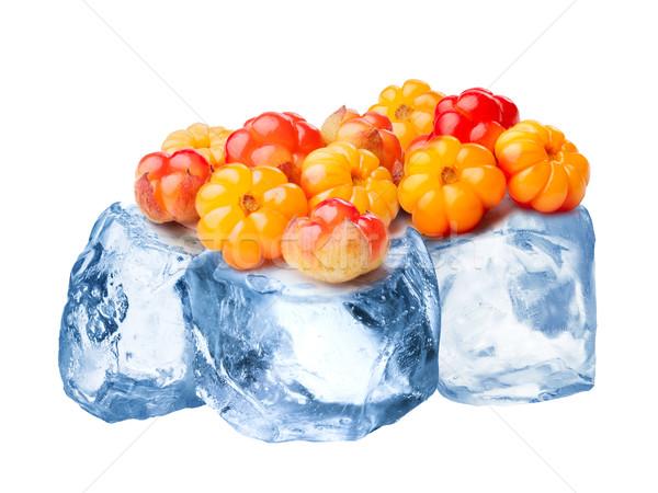 Frozen cloudberries isolated Stock photo © maxsol7