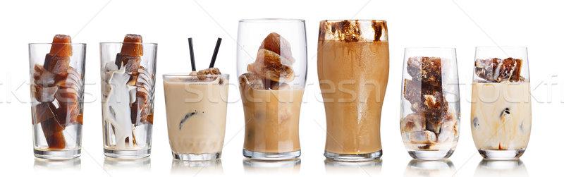 ミルク コーヒー カクテル コレクション カクテル 凍結 ストックフォト © maxsol7