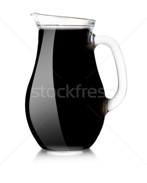Stock fotó: Fekete · vázlat · szilárd · tükröződés · vágási · körvonal