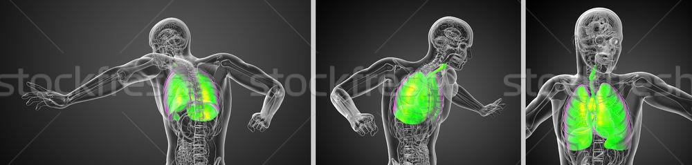3D renderelt kép illusztráció férfi Stock fotó © maya2008