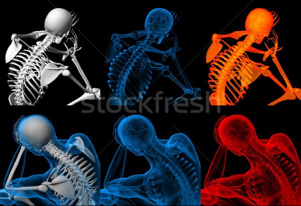 3d render csontváz ül test oktatás gyógyszer Stock fotó © maya2008