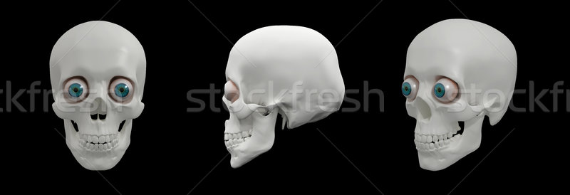 3d render illusztráció emberi koponya gyógyszer halál Stock fotó © maya2008