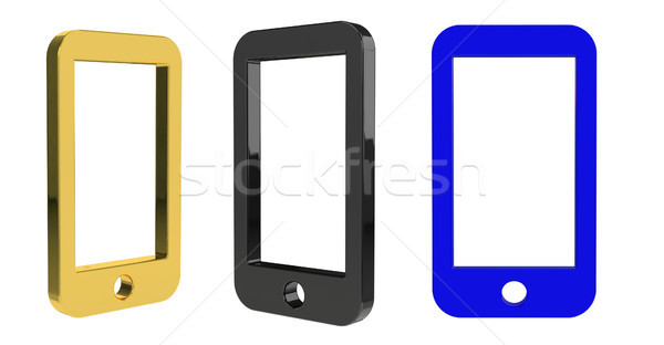 Stock photo: 3d rendering  medical illustration of the phone