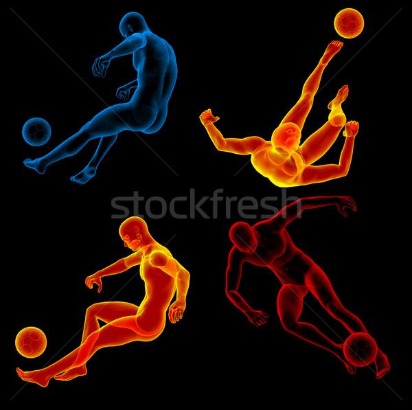 3D ilustracja ludzi piłka Zdjęcia stock © maya2008