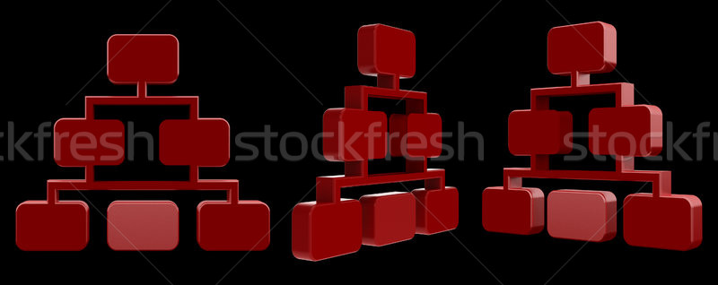 3d rendering  medical illustration of the Hierarchy network Stock photo © maya2008