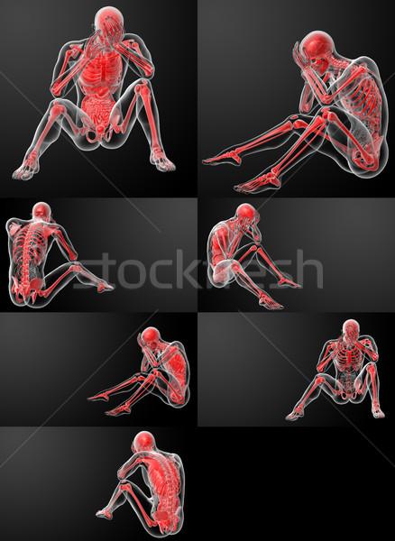 3d визуализации человека здоровья науки мужчины костях Сток-фото © maya2008