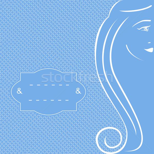 Sluier Blauw meisje mode Stockfoto © Mayamy