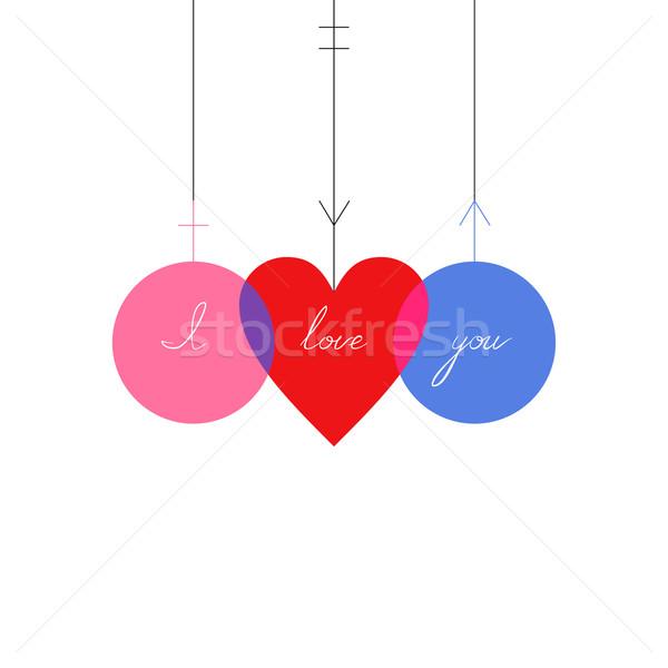 Liefde abstract teken man vrouw hart Stockfoto © Mayamy
