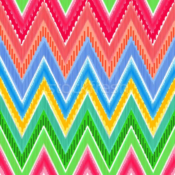 étnicas zigzag brillante arco iris colores pueden Foto stock © Mayamy