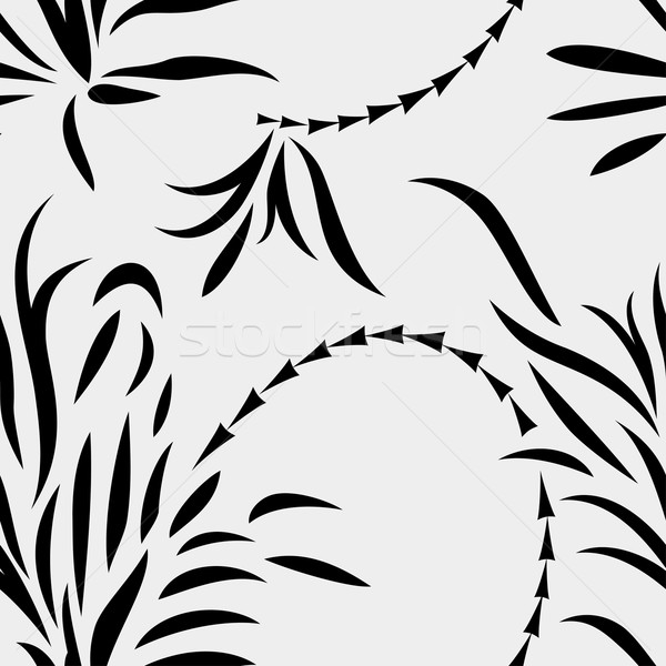 Naadloos abstract planten monochroom bladeren bloem Stockfoto © Mayamy