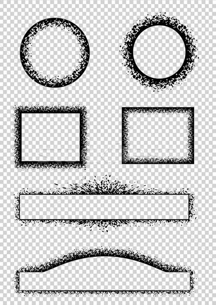 Grunge frames ingesteld zwarte banners abstract Stockfoto © Mayamy