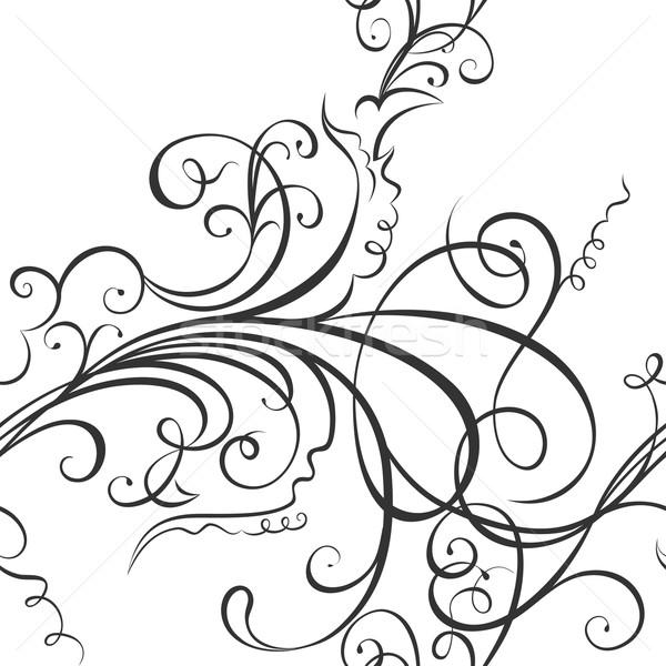 Swirling floral ornament Stock photo © Mayamy