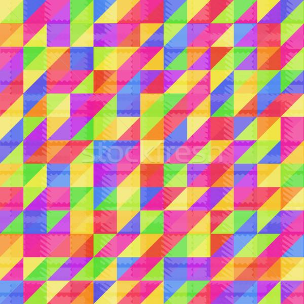 Naadloos regenboog driehoek meetkundig communie Stockfoto © Mayamy