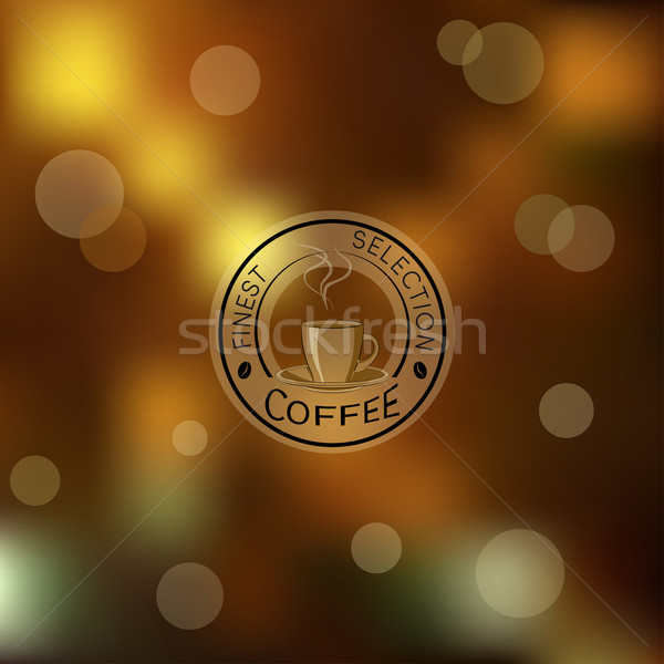Wazig bruin gouden Blur logo koffie Stockfoto © Mayamy