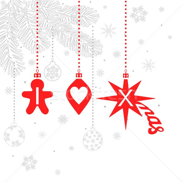 Favoriet christmas liefde symbolen vakantie kan Stockfoto © Mayamy