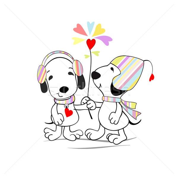 Puppies bloem grappig puppy bloemblaadjes vorm Stockfoto © Mayamy