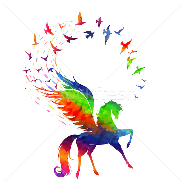 Pegasus concept of inspiration Stock photo © Mayamy