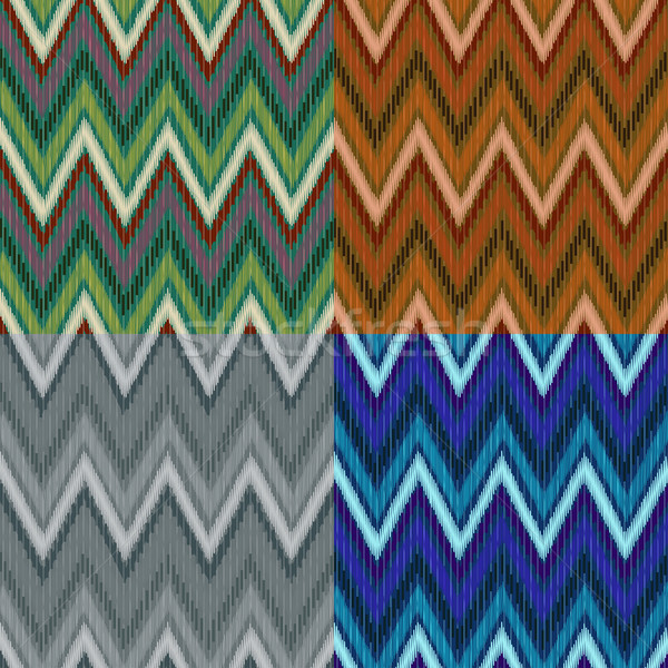 Tribal patroon naadloos vector asian vier Stockfoto © Mayamy