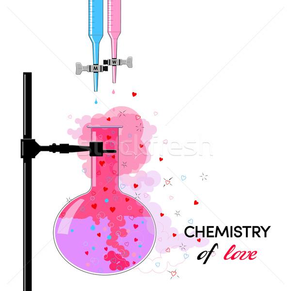 Chemie liefde grappig kaart relatie man Stockfoto © Mayamy