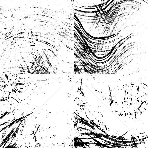 Grunge textuur vuile textuur zwarte inkt witte Stockfoto © Mayamy