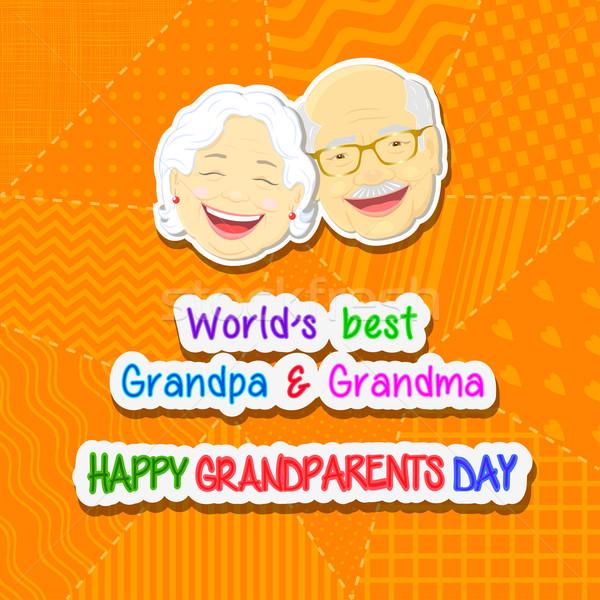Nagyszülők nap üdvözlet kifejezés arc nagyapa Stock fotó © Mayamy