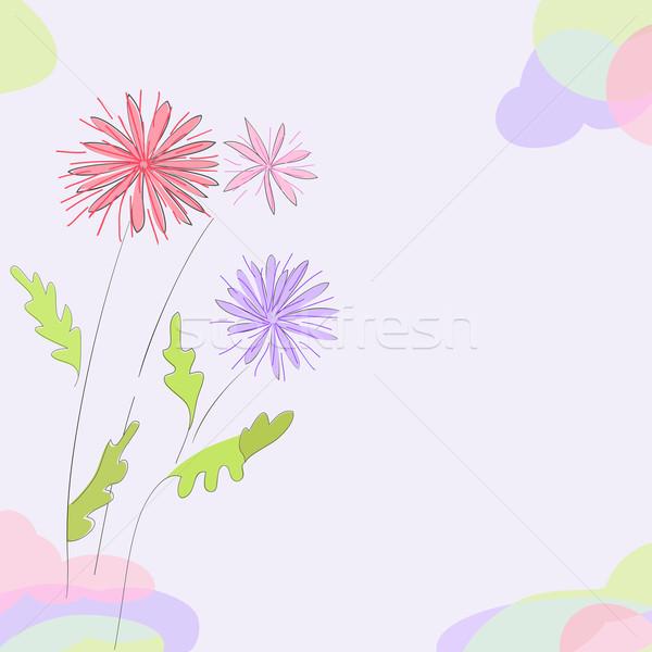 Bloemen kaart pastel kan ruimte Stockfoto © Mayamy