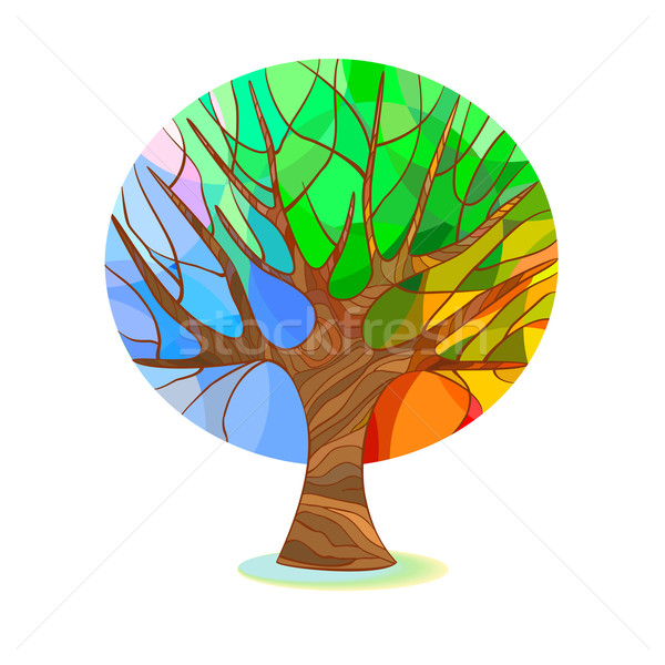 Stylized tree - four seasons Stock photo © Mayamy