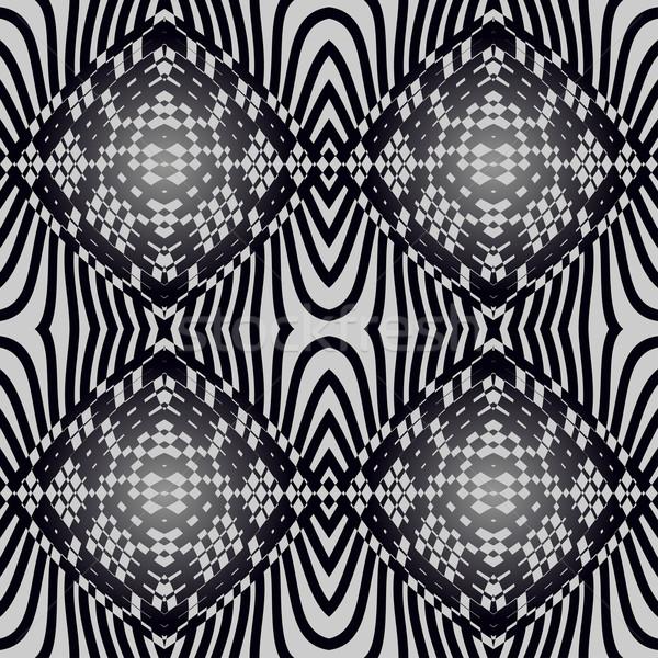 Naadloos abstract patroon meetkundig zwarte Stockfoto © Mayamy