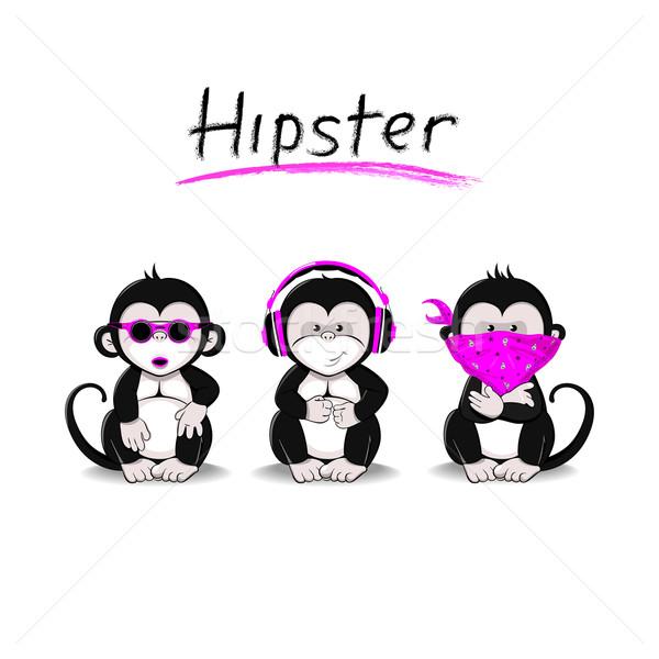 Maymun üç monkeys fikir değil Stok fotoğraf © Mayamy