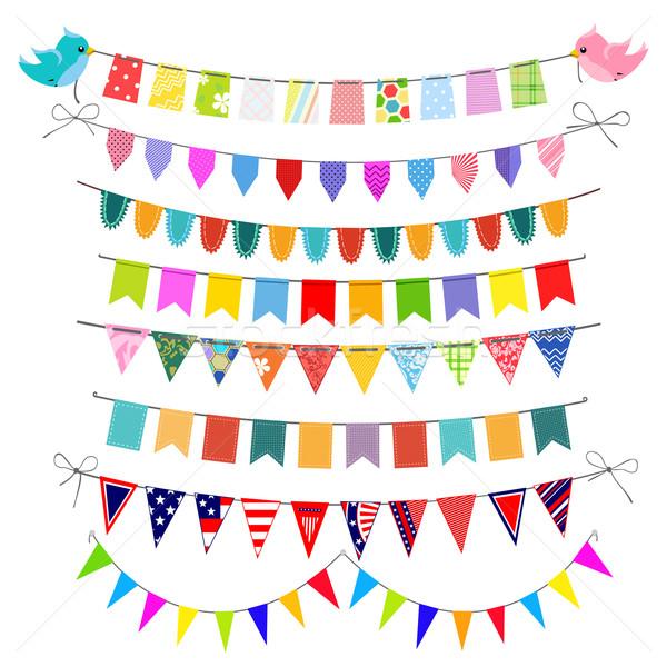 Ingesteld feestelijk traditioneel kinderen textiel gemakkelijk Stockfoto © Mayamy
