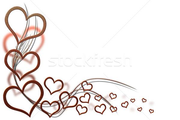 バレンタインデー カード デザイン 赤 心 ストックフォト © Mazirama