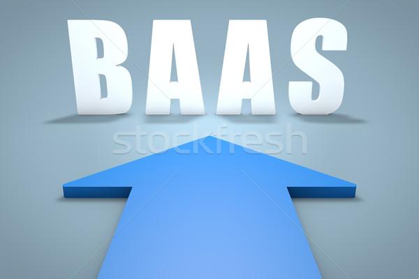 バックアップ サービス 3dのレンダリング 青 矢印 ポインティング ストックフォト © Mazirama