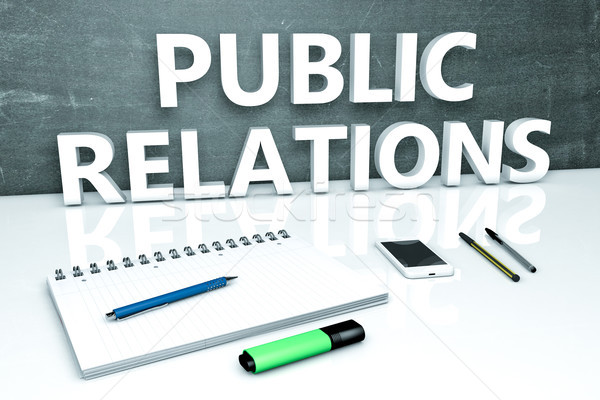 Public Relations text concept Stock photo © Mazirama