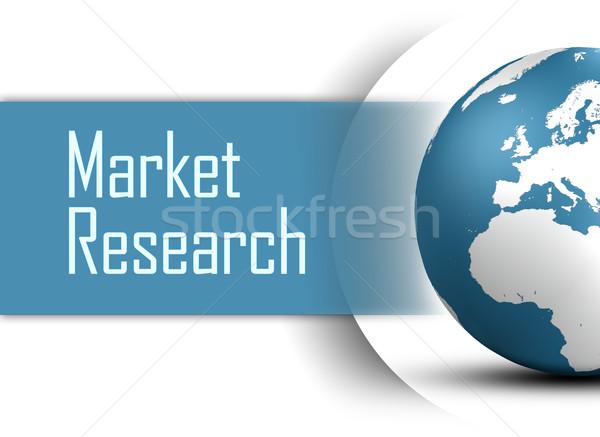 Mercado investigación mundo blanco dinero luz Foto stock © Mazirama