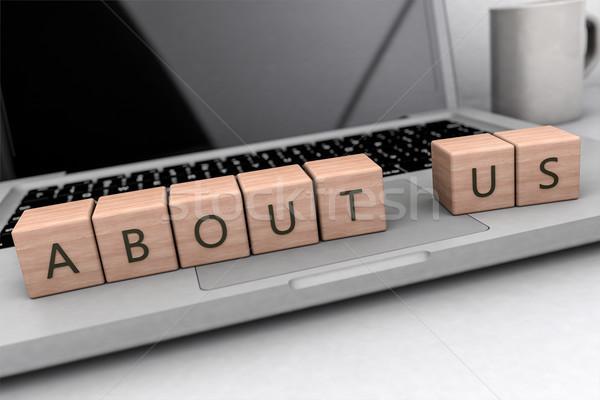 о компании текста ноутбук компьютер Сток-фото © Mazirama