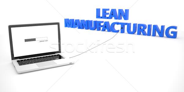 製造 ノートパソコン ノートブック コンピュータ 言葉 白 ストックフォト © Mazirama