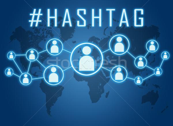 Hashtag text concept Stock photo © Mazirama