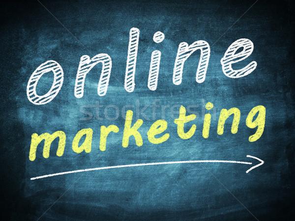 Интернет маркетинг текста синий интернет связи цифровой Сток-фото © Mazirama