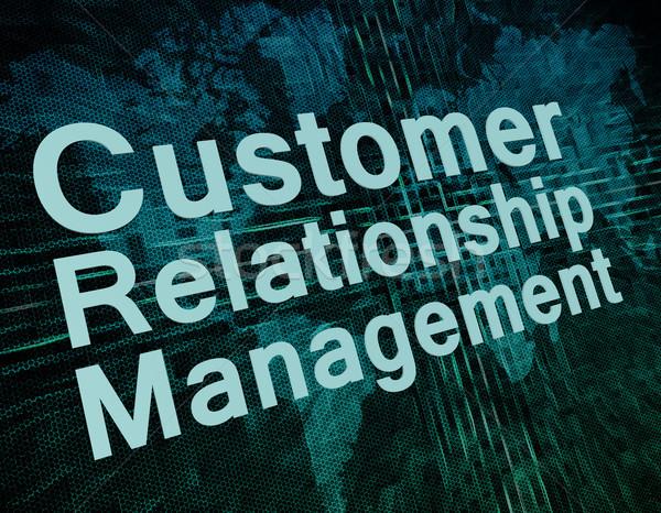 Crm marketing parole cliente rapporto gestione Foto d'archivio © Mazirama